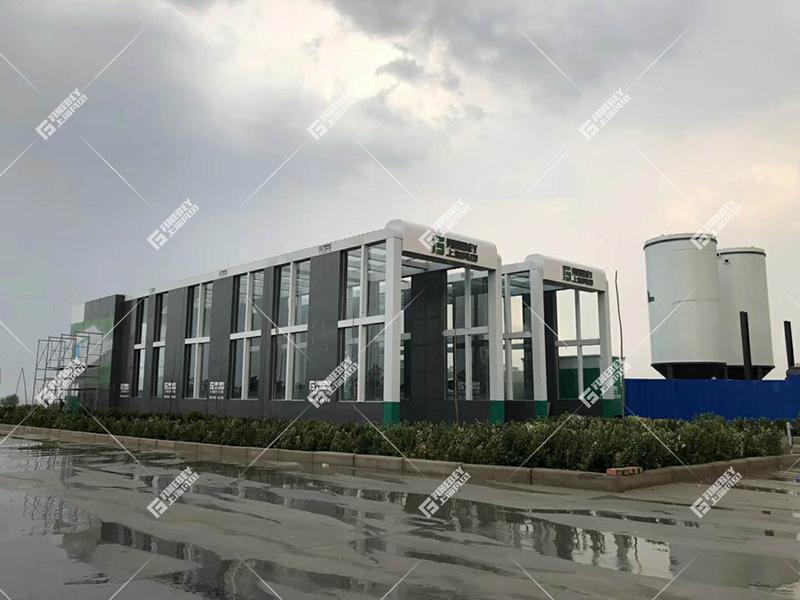 大型钢铁厂、搅拌站工程车辆清洁神器 24米洗车机