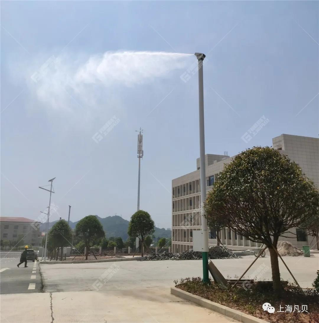 上海凡贝洗车机、砂石分离机、室外抑尘等环保设备助力湖南二建打造一流的绿色环保型搅拌站